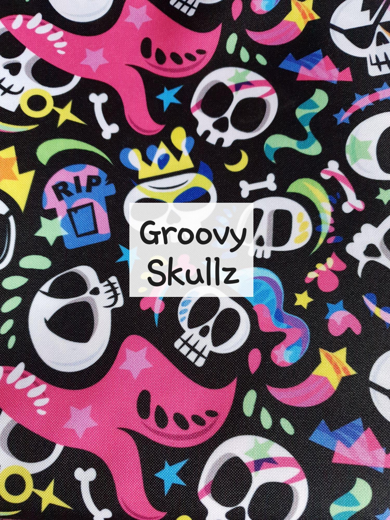 Groovy skullz waterproof fabric