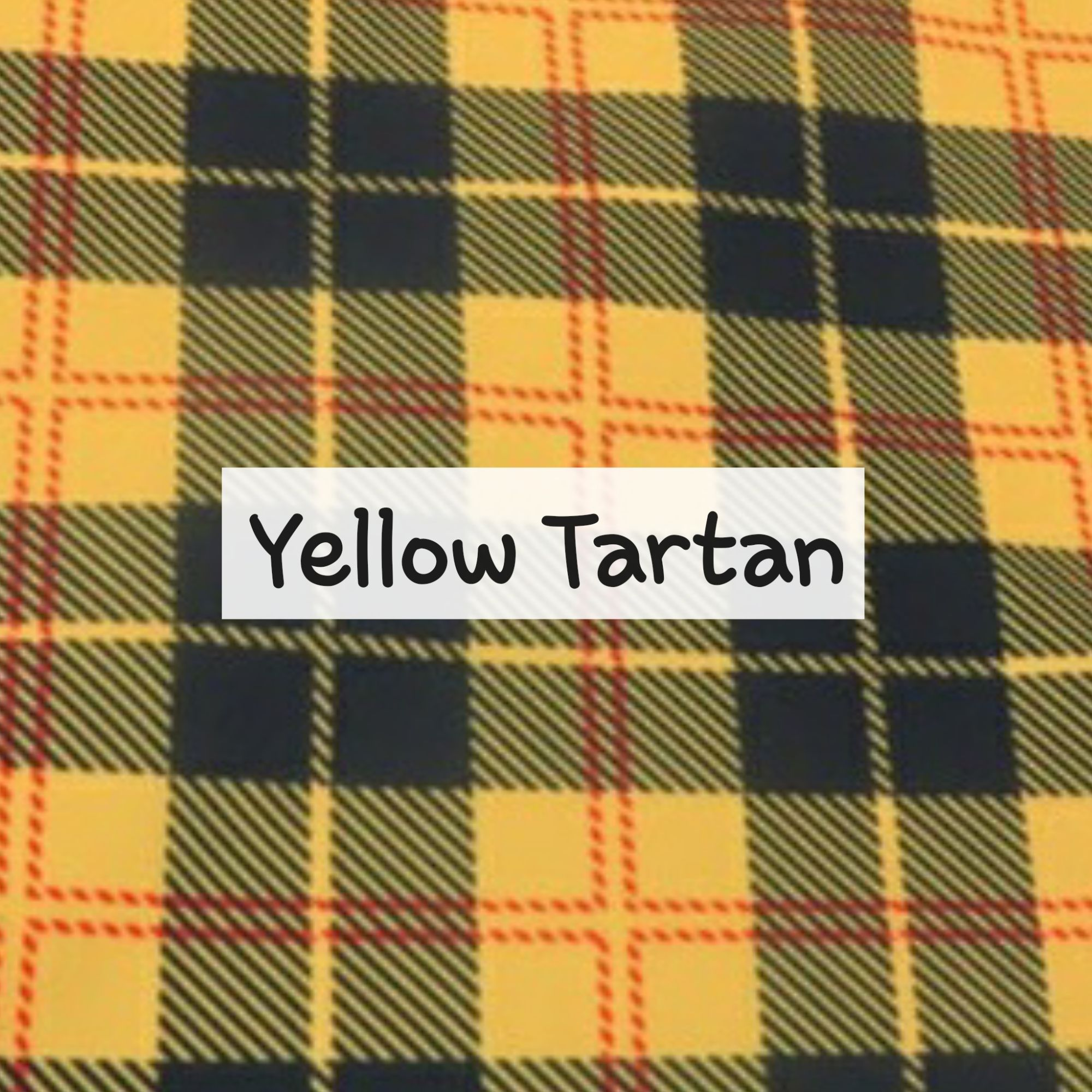 Yellow Tartan Waterproof Fabric
