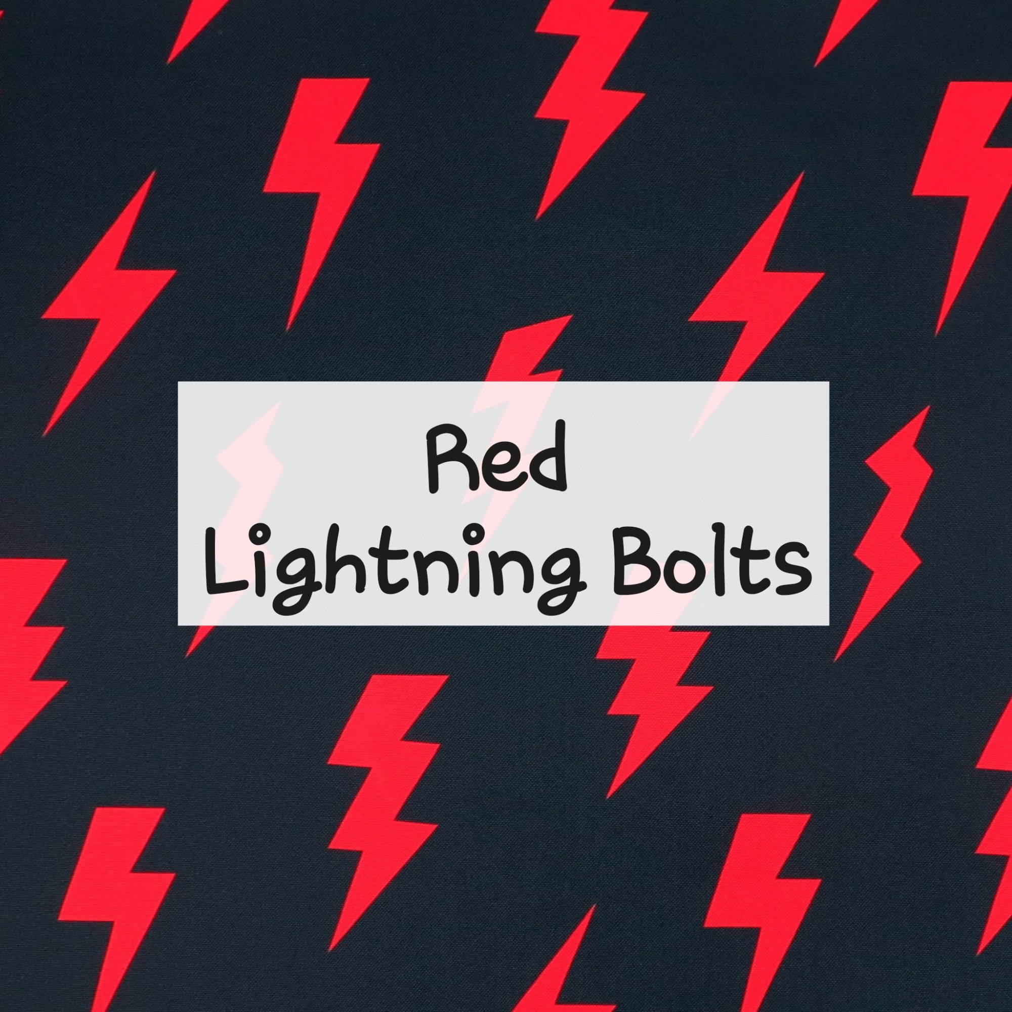 Red Lightning Bolts Waterproof Fabric