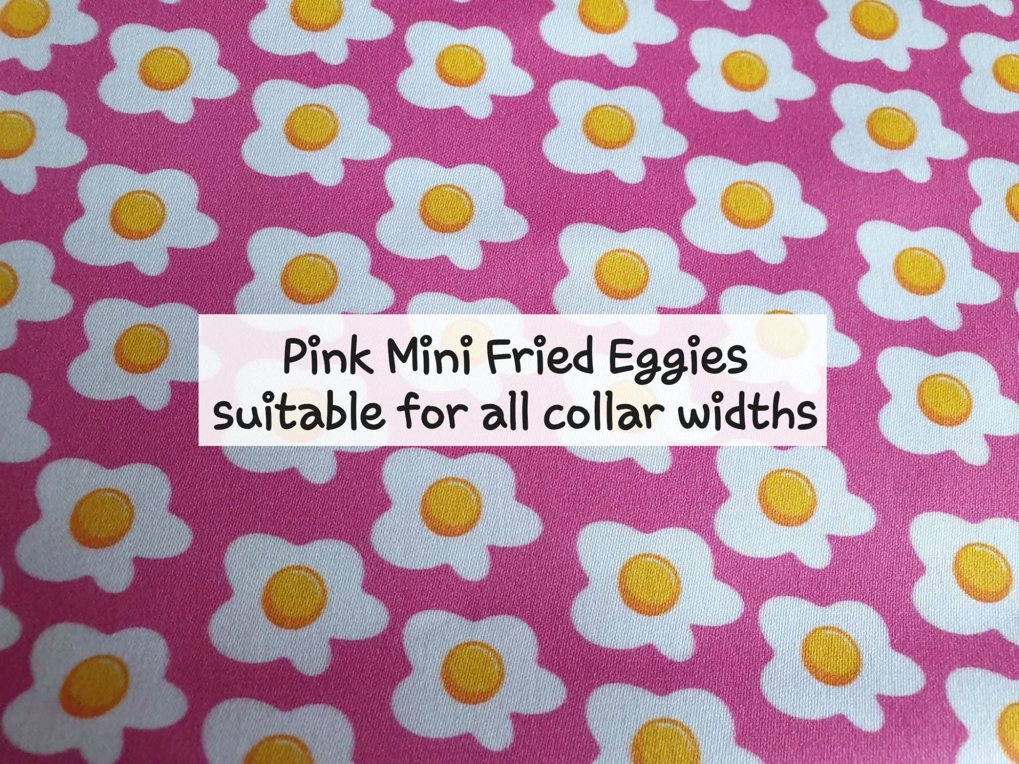 Pink Mini Fried Eggies - Suitable for all collar widths