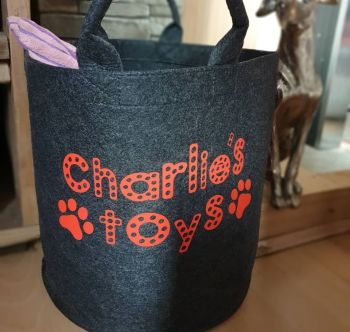 Personalised Felt Toy Trug