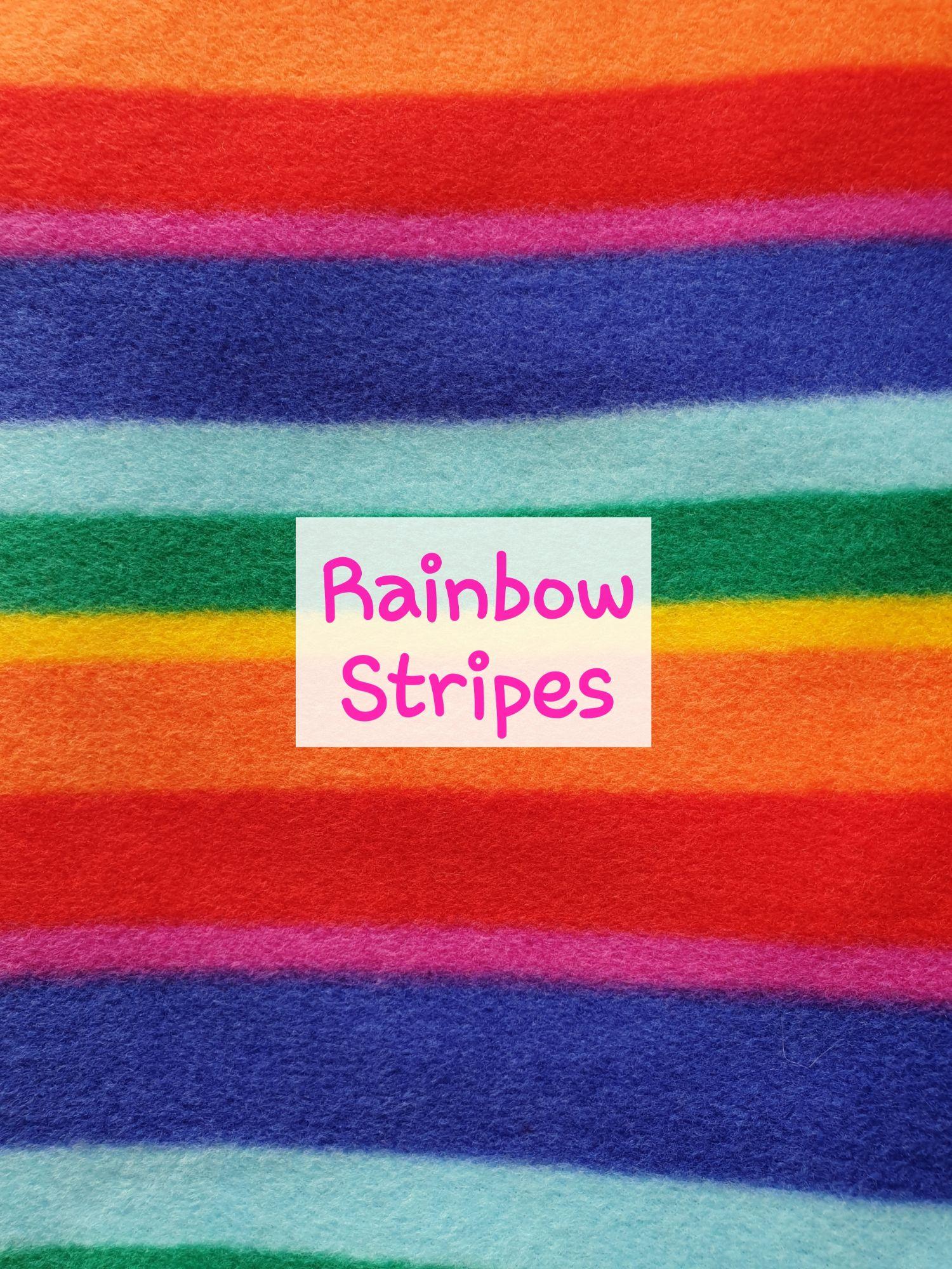 Rainbow Stripes Fleece