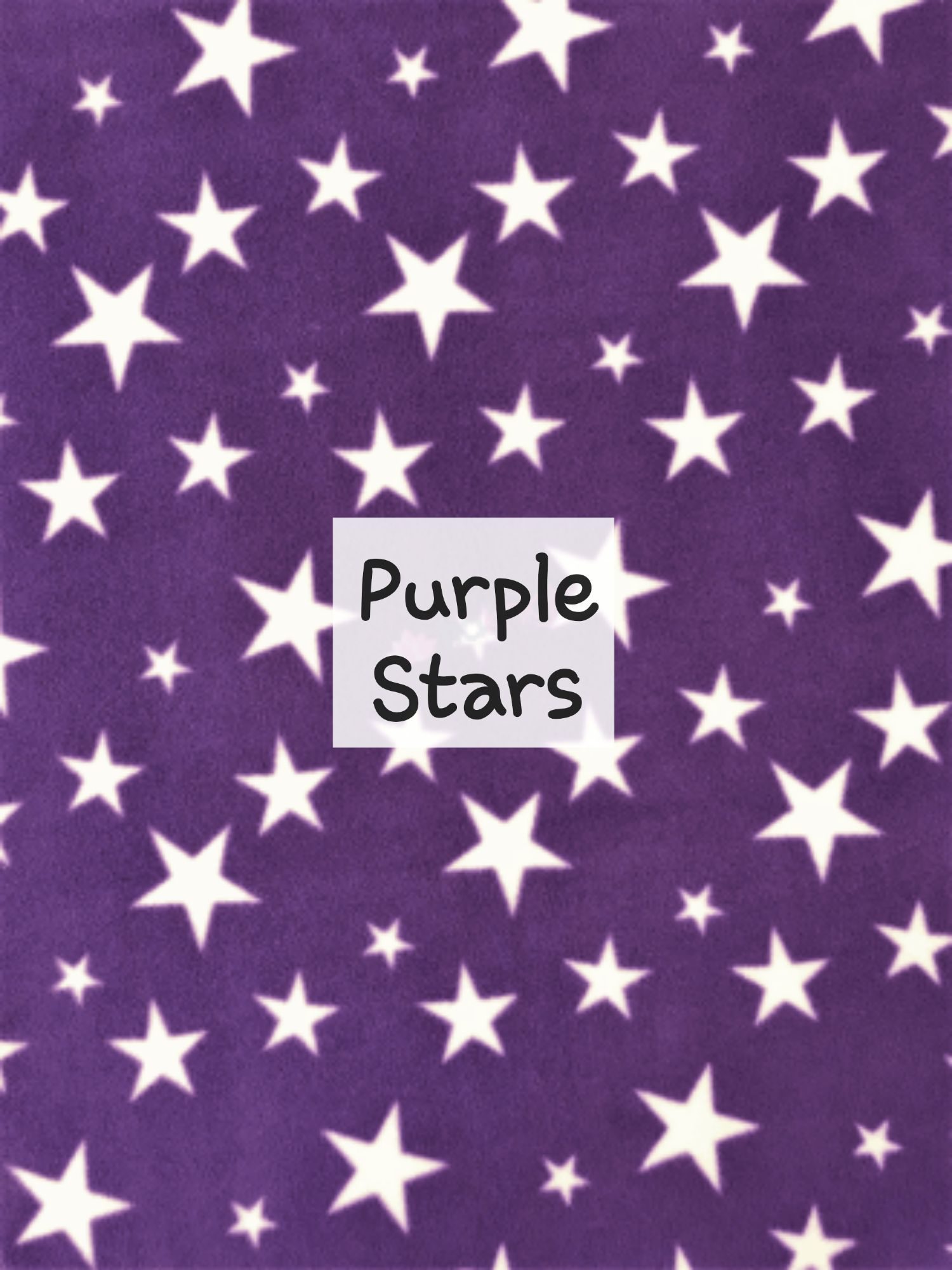 Purple stars fleece