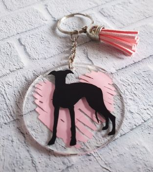 Hound Silhouette Keyrings **Made to Order**