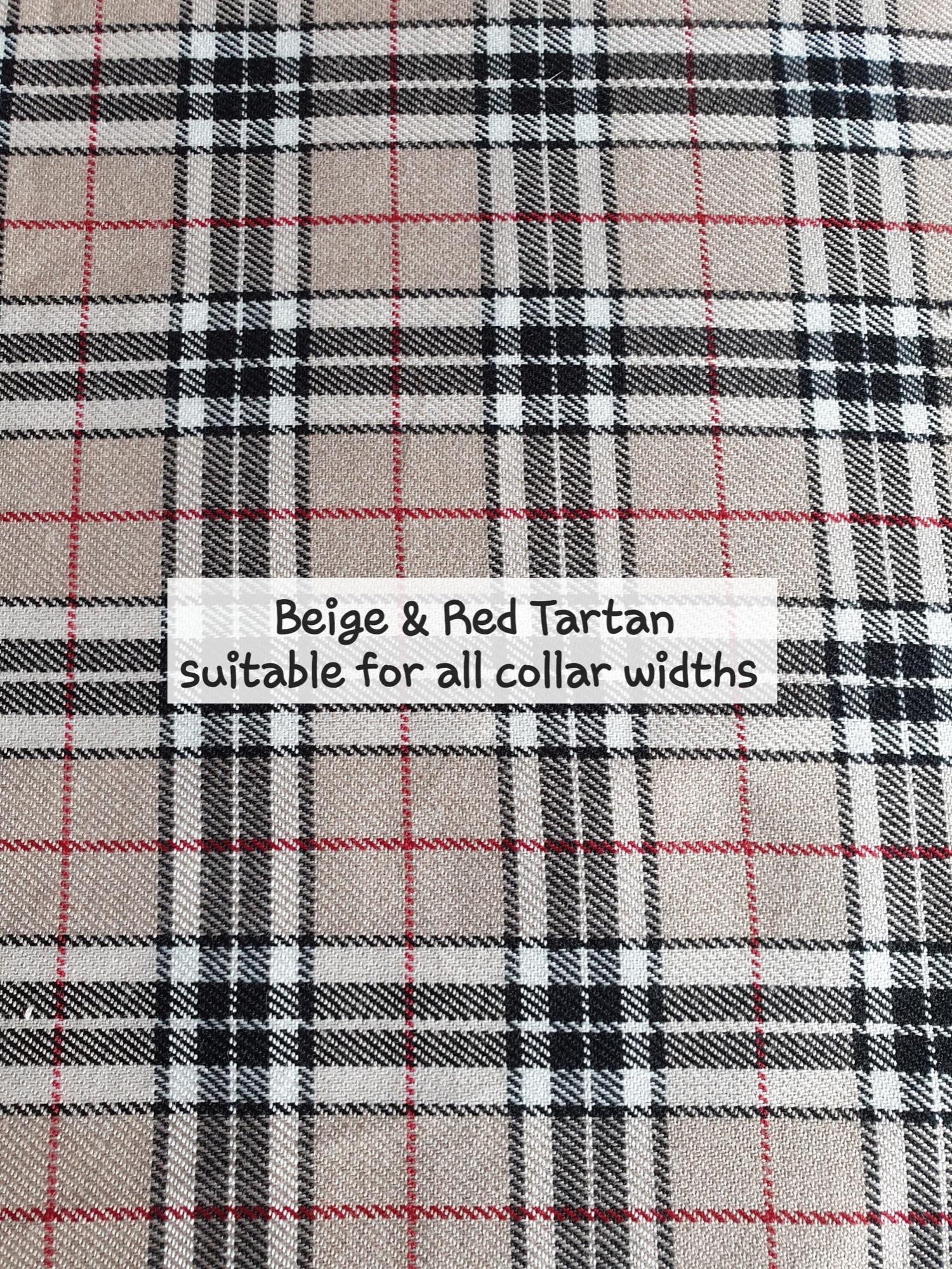 Beige & Red Tartan