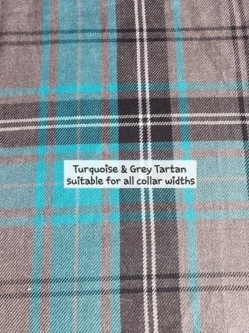 Turquoise & Grey Tartan