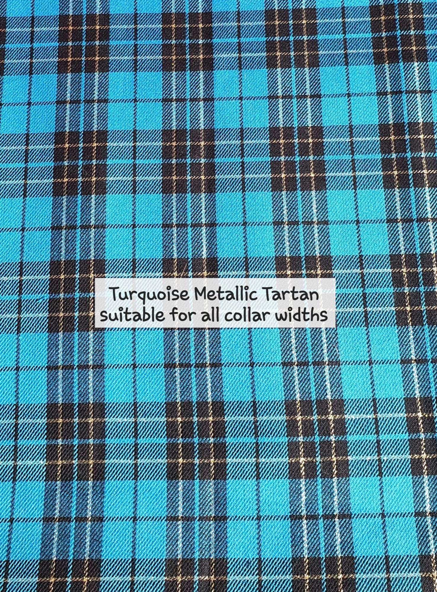 Turquoise Metallic Tartan