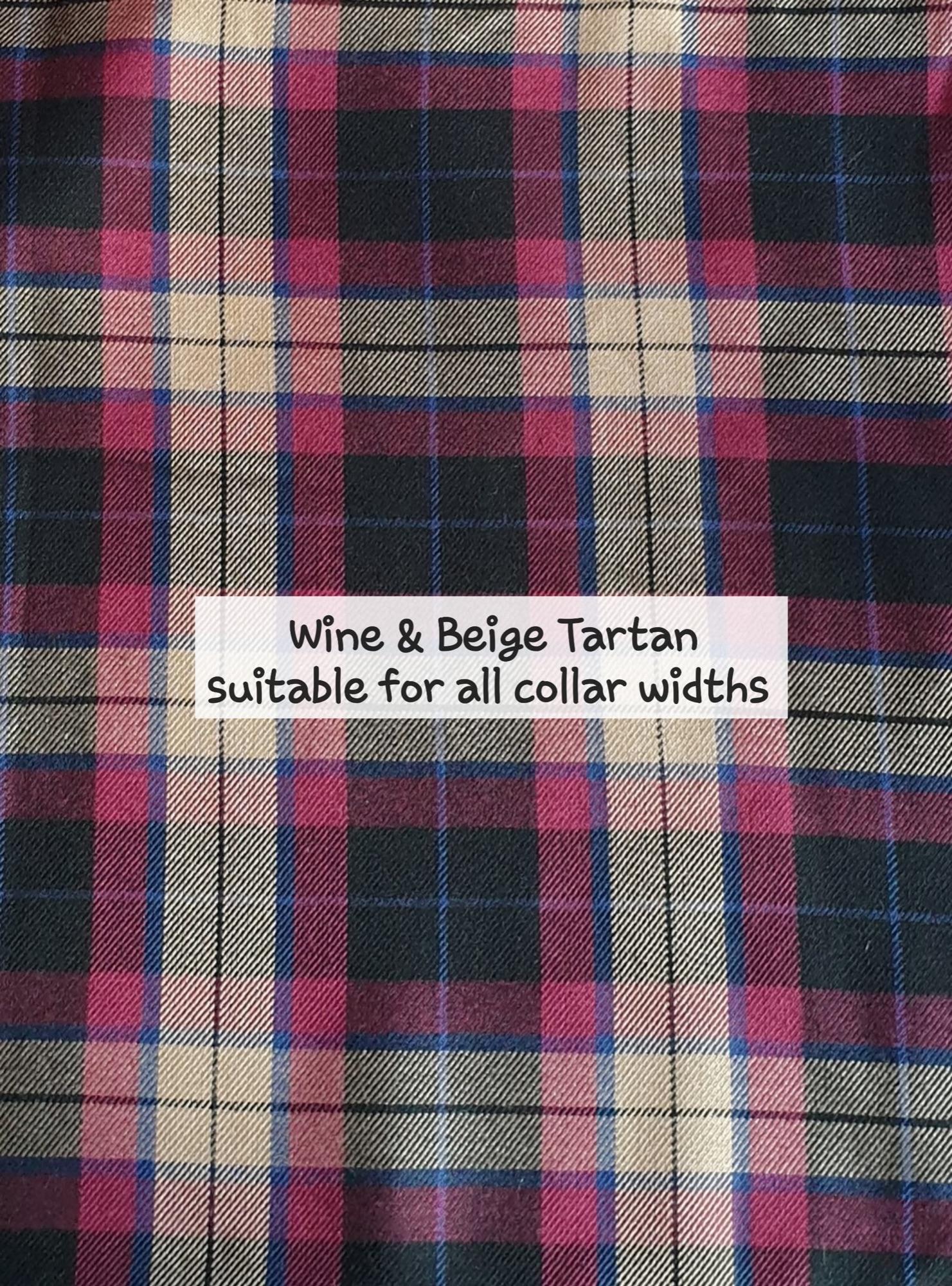 Wine & Beige Tartan