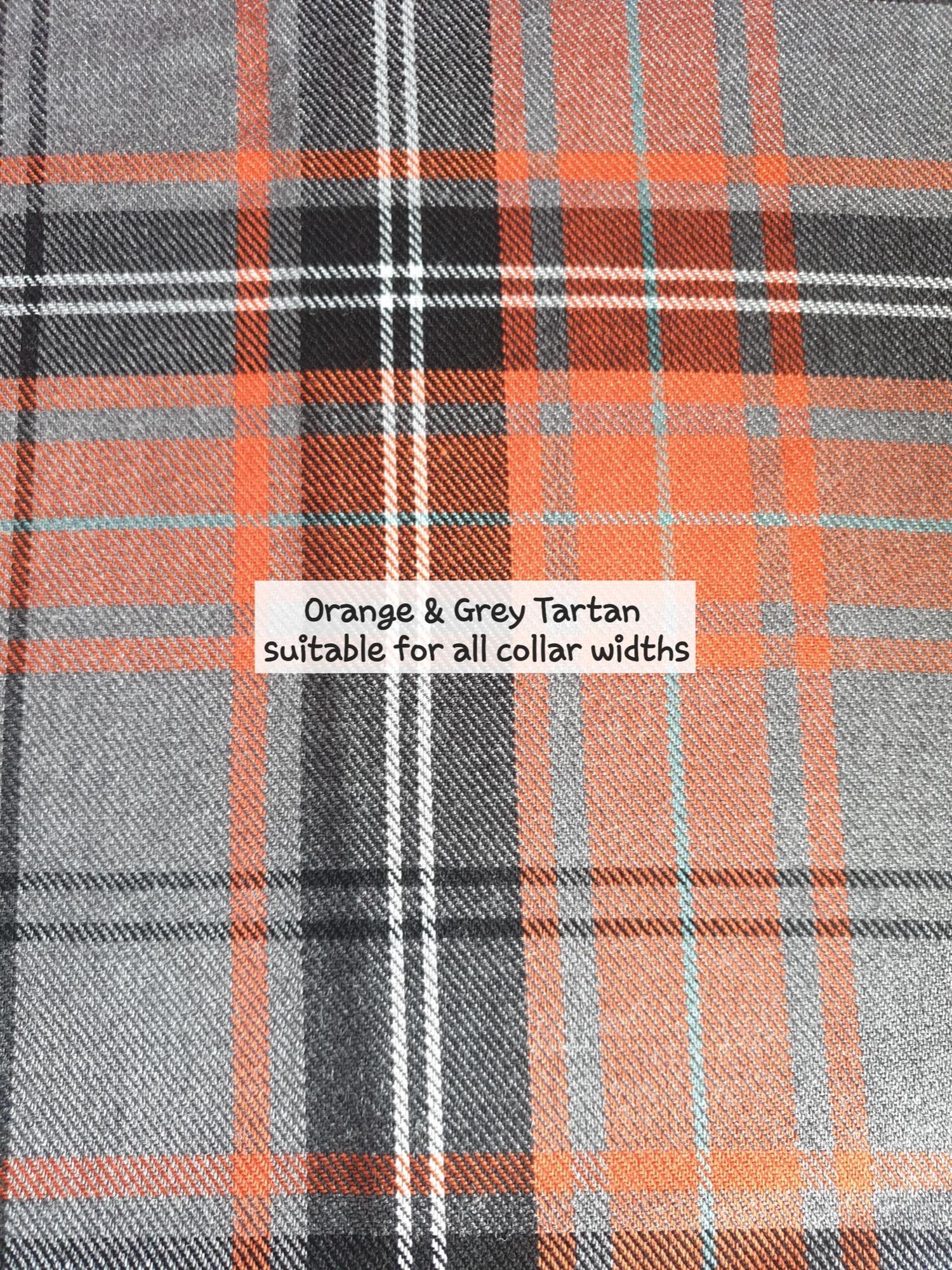 orange and grey tartan