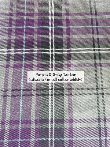 purple and grey tartan