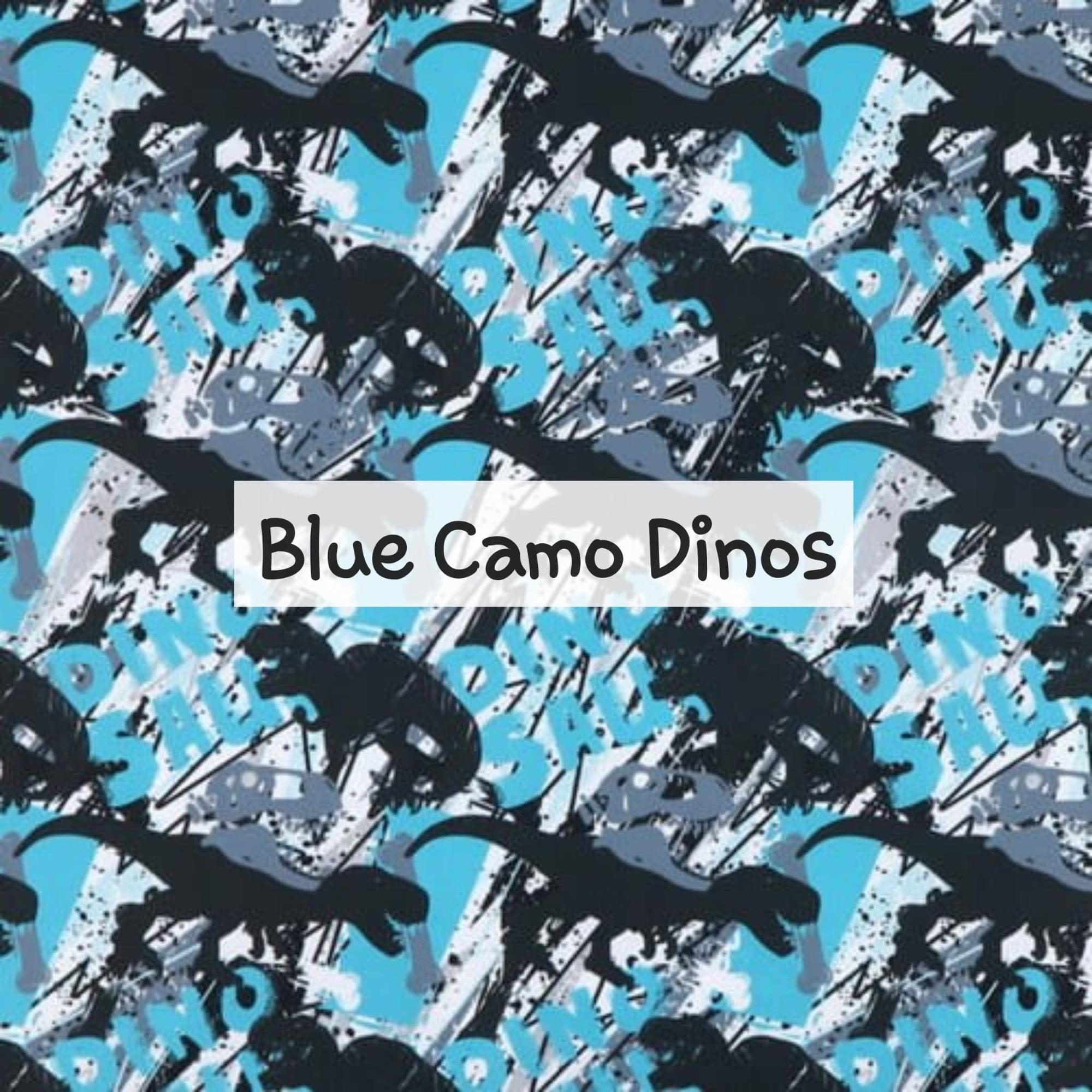 Blue Camo Dinos