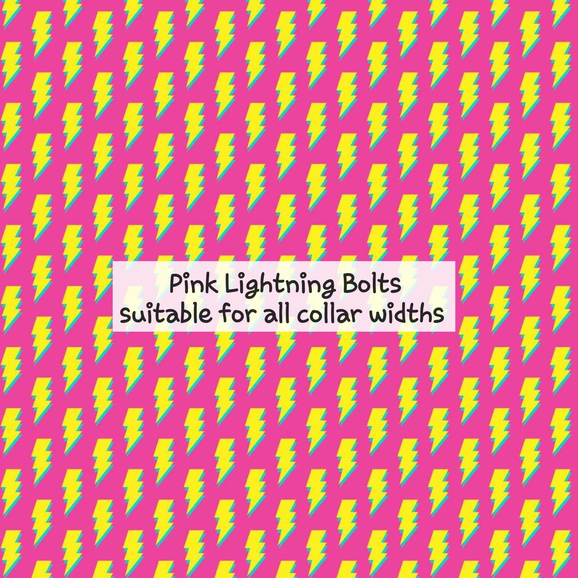 pink ligtnning bolts