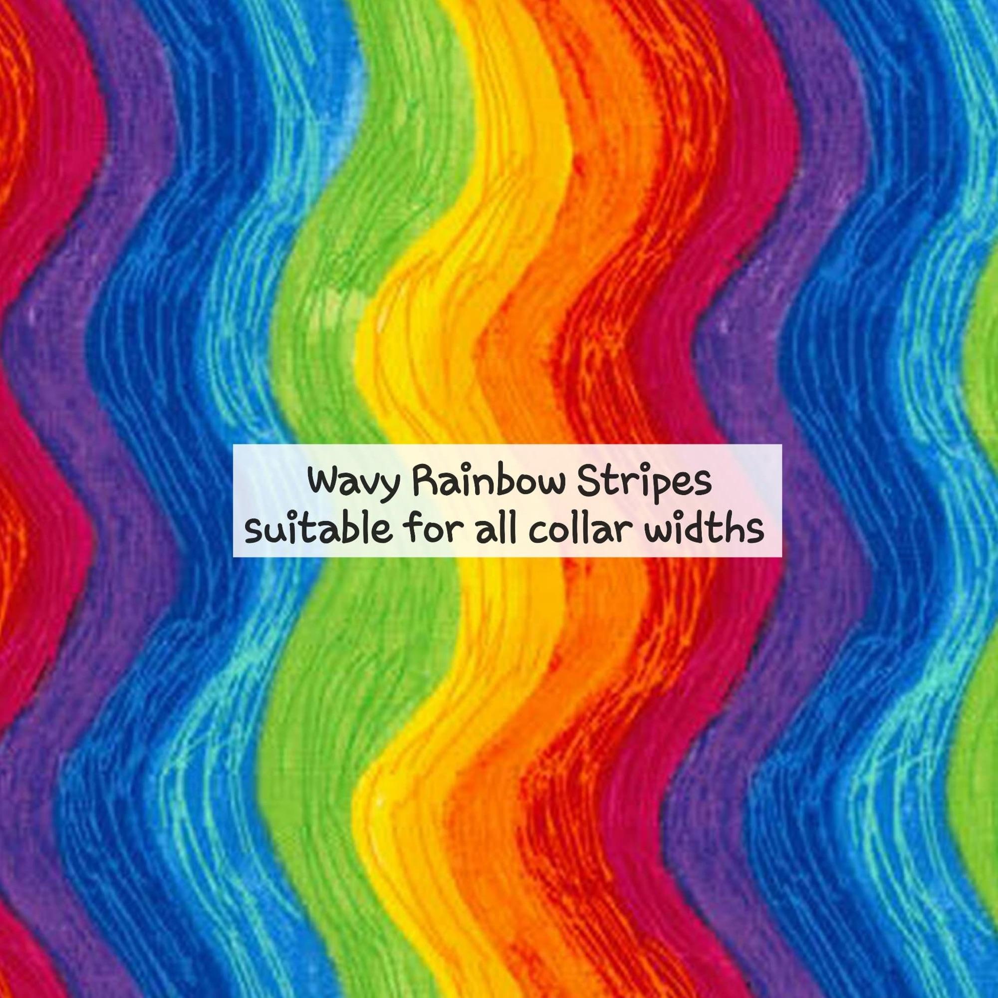 Wavy Rainbow Stripes