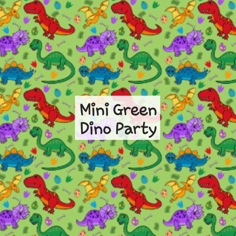 Mini Green Dino Party