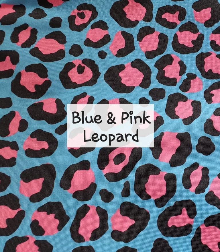 Blue & Pink Leopard