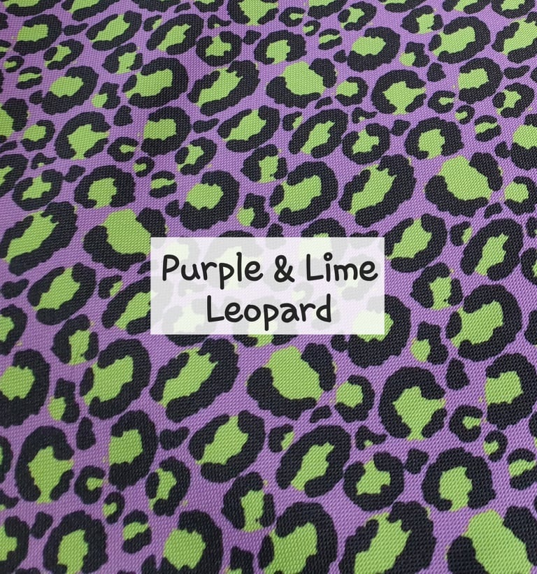 Purple & Lime Leopard