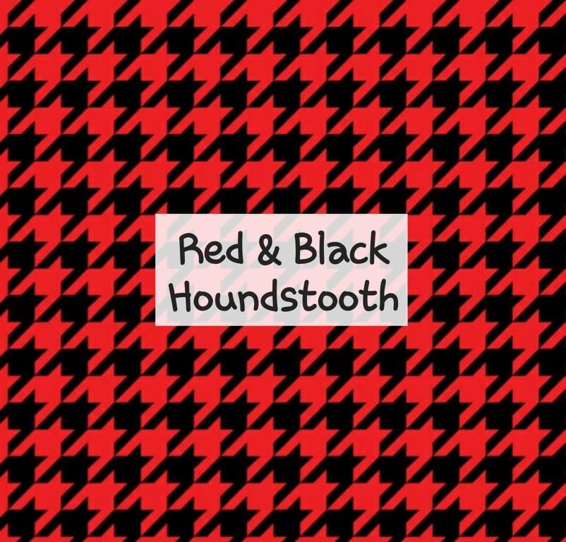 Red & Black Houndstooth
