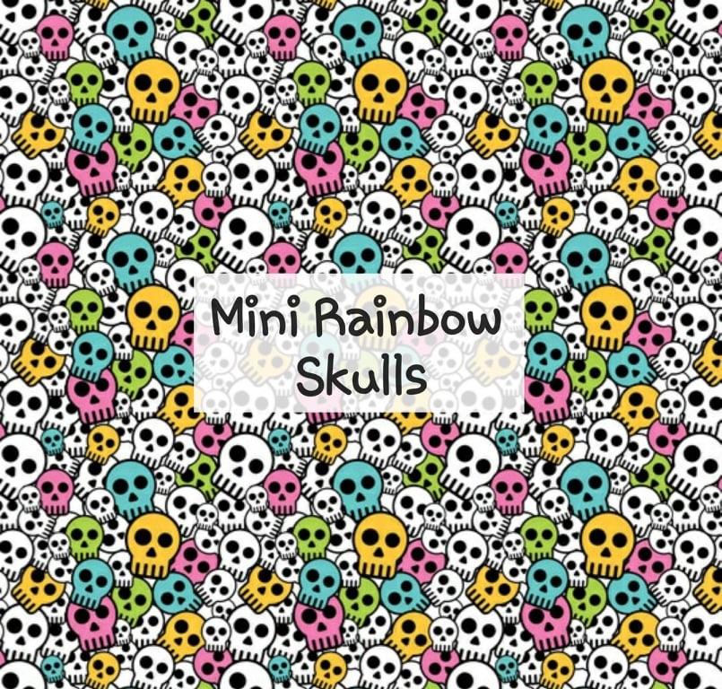 Mini Rainbow Skulls