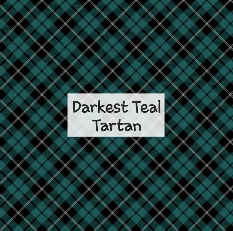 Darkest Teal Tartan