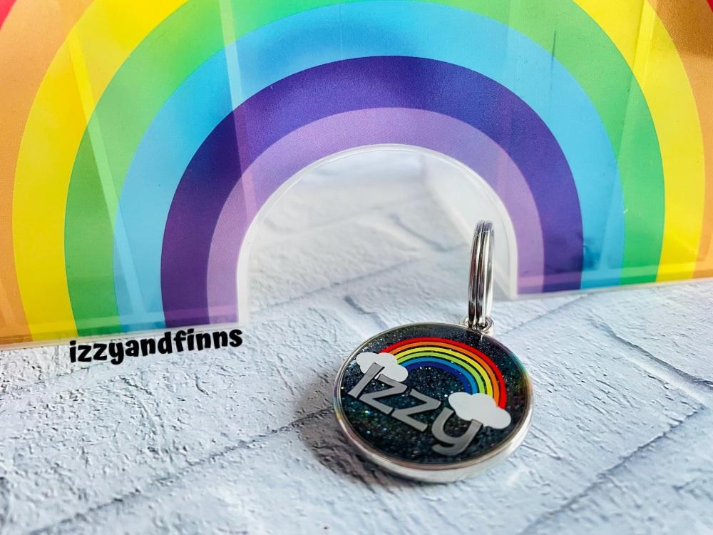25mm Resin Rainbow Tag