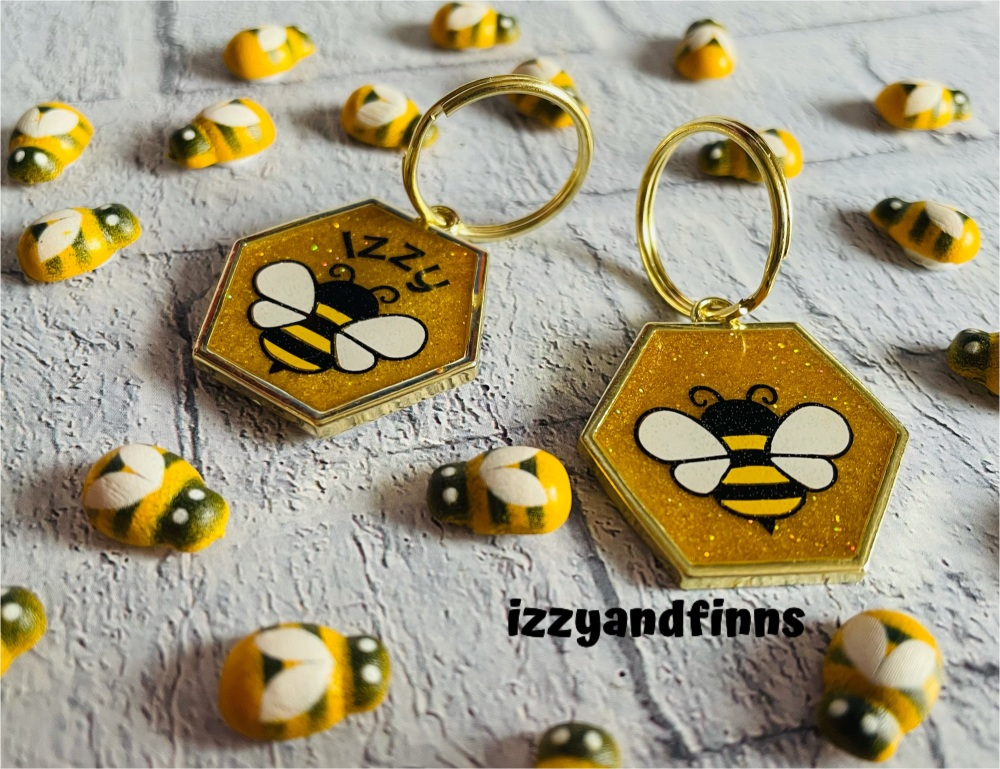 25mm Resin Bee Tag