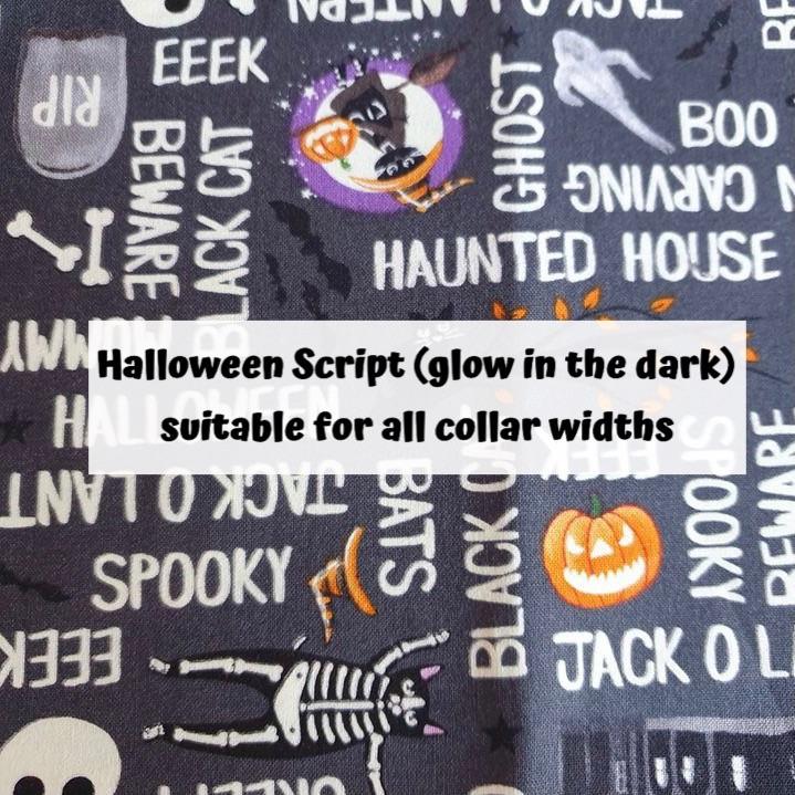 Halloween Script (glow in the dark)