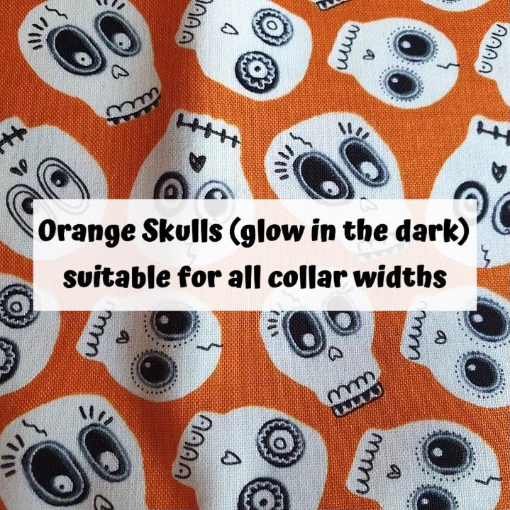 Orange Skulls (glow in the dark)