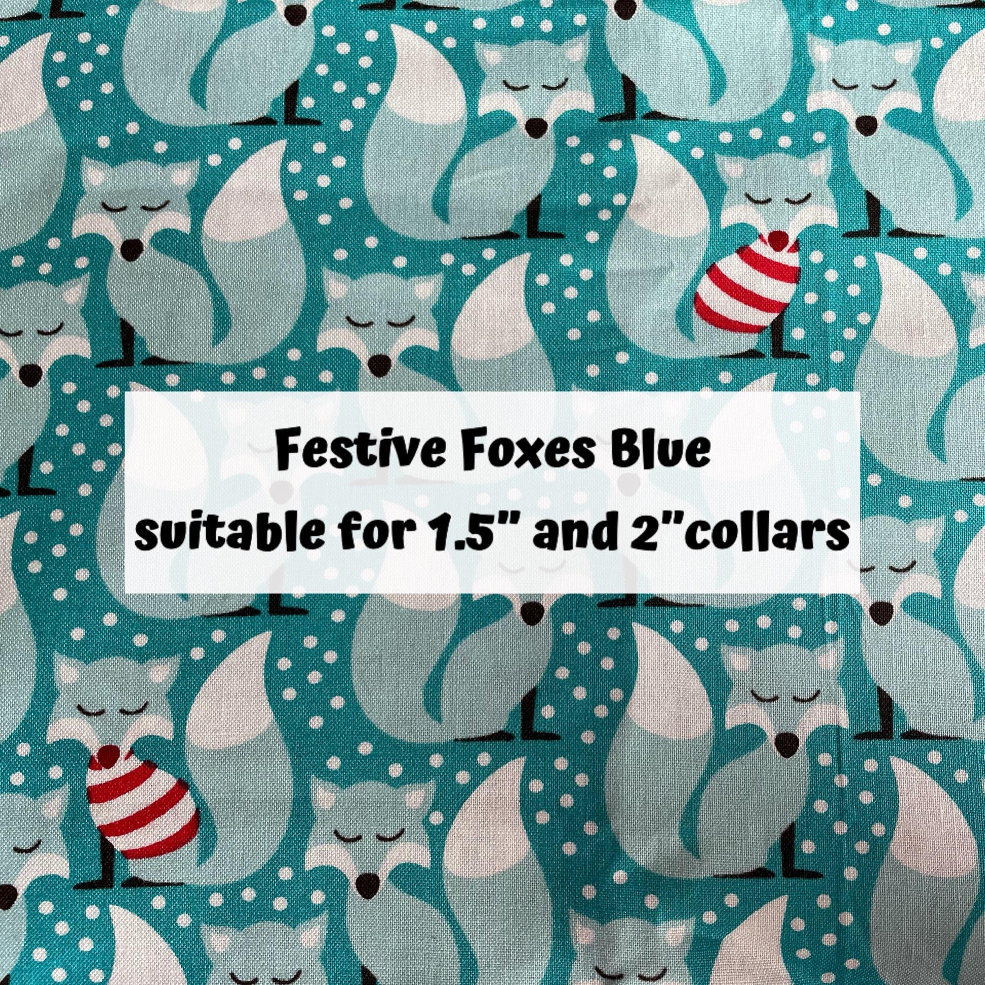 Festive Foxes Blue