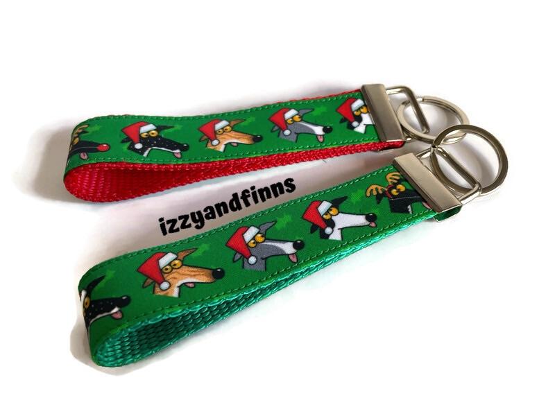 Richard Skipworth Festive Derps Fabric Keyfobs **Made to Order**