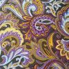 Gold Purple Paisley - Suitable for 1, 1.5 and 2 inch collars