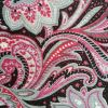 Pink Black Paisley - Suitable for 1, 1.5 and 2 inch collars