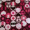Pink Peace and Love - Suitable for 1, 1.5 and 2 inch collars