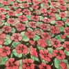 Pink Poppies on Black - Suitable for 1, 1.5 and 2 inch collars