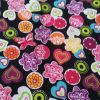 Bright Butterflies, hearts and circles - Suitable for 1, 1.5 and 2 inch col