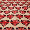 Union Jack Hearts - Suitable for 1.5 inch collars