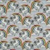 Grey Unicorns & Rainbows - Suitable for 1.5 and 2 inch collars