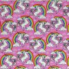 Pink Unicorns & Rainbows - Suitable for 1.5 and 2 inch collars