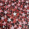 Red Gold Stars - Suitable for 1, 1.5 and 2 inch collars