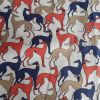 Crowded Hounds (Red and Navy) - Suitable for 1, 1.5 and 2 inch collars