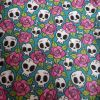 Cute Skulls and Pink Roses - Suitable for 1, 1.5 and 2 inch collars
