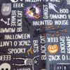 Halloween Script glows in the dark - Suitable for 1, 1.5 and 2 inch collars