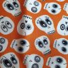 Orange Glow in the dark skulls - Suitable for 1, 1.5 and 2 inch collars