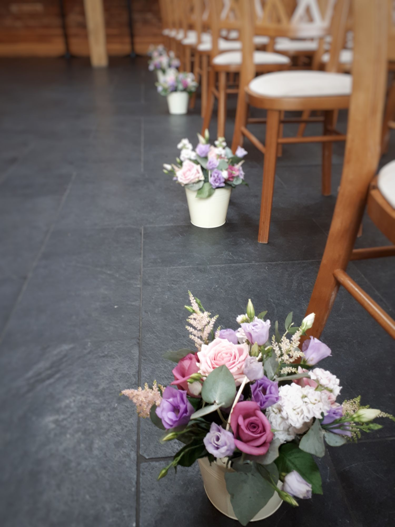 Aisle flowers wedding
