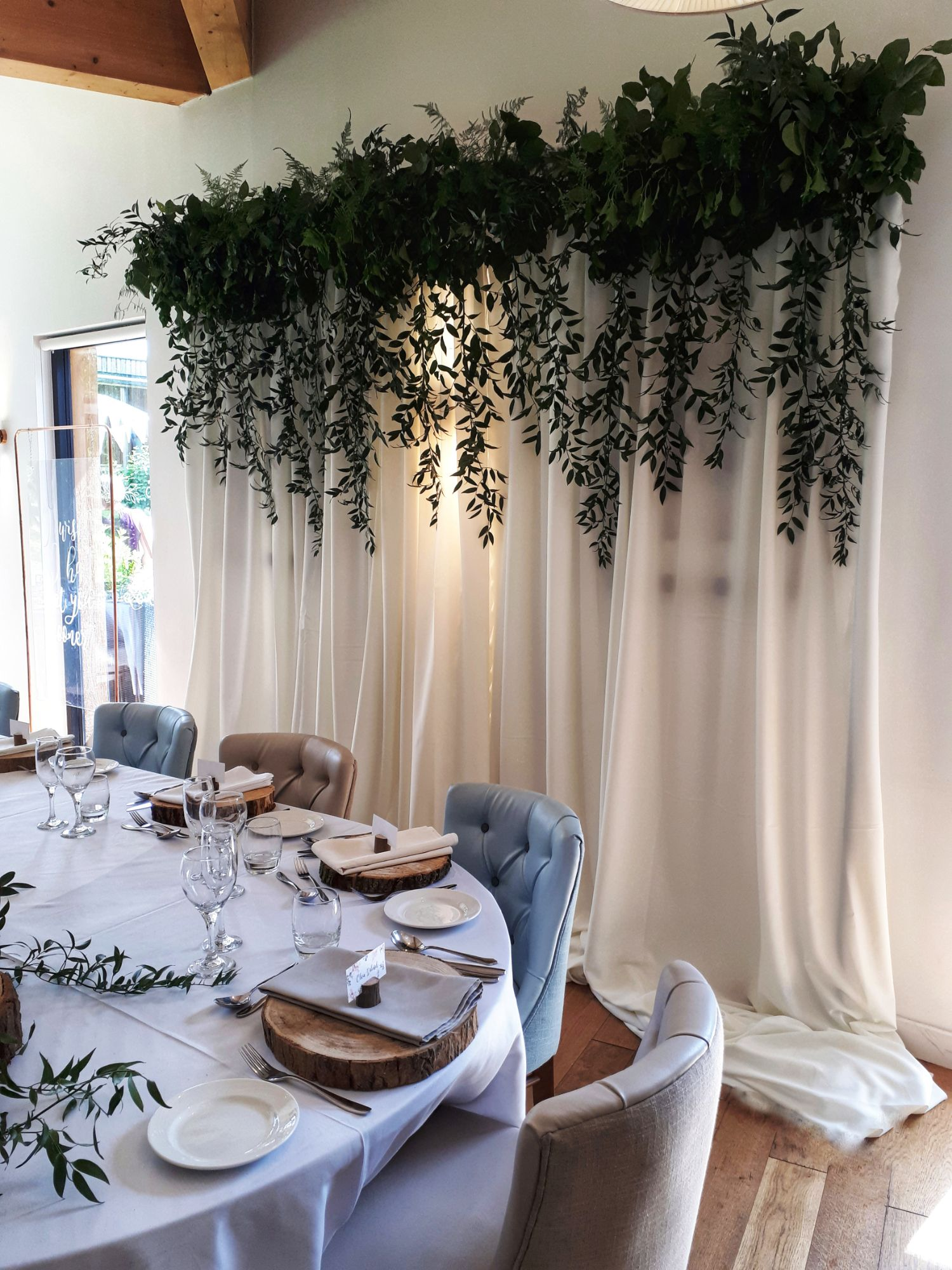 Foliage wedding decor backdrop