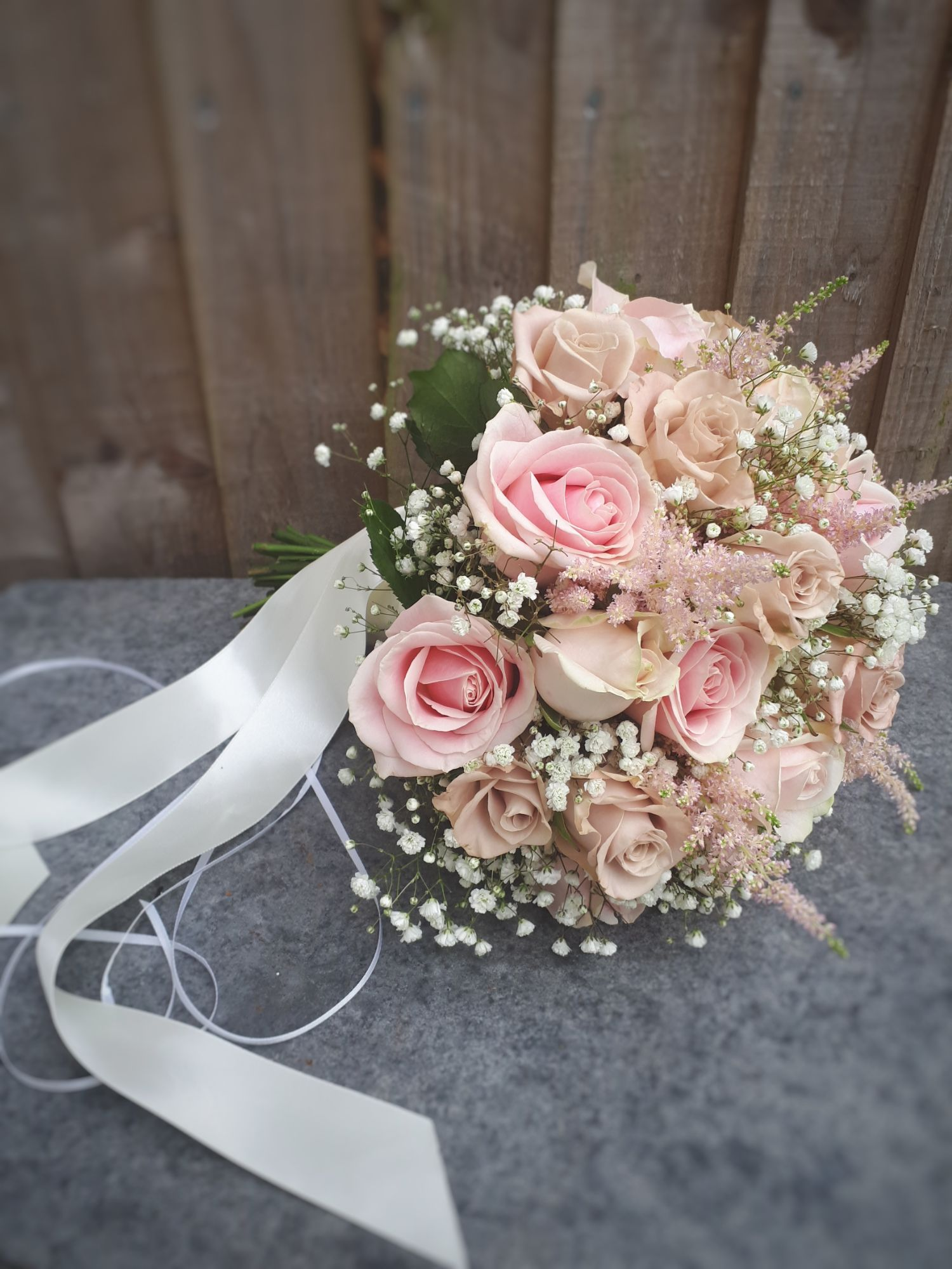 Blush pink brides bouquet