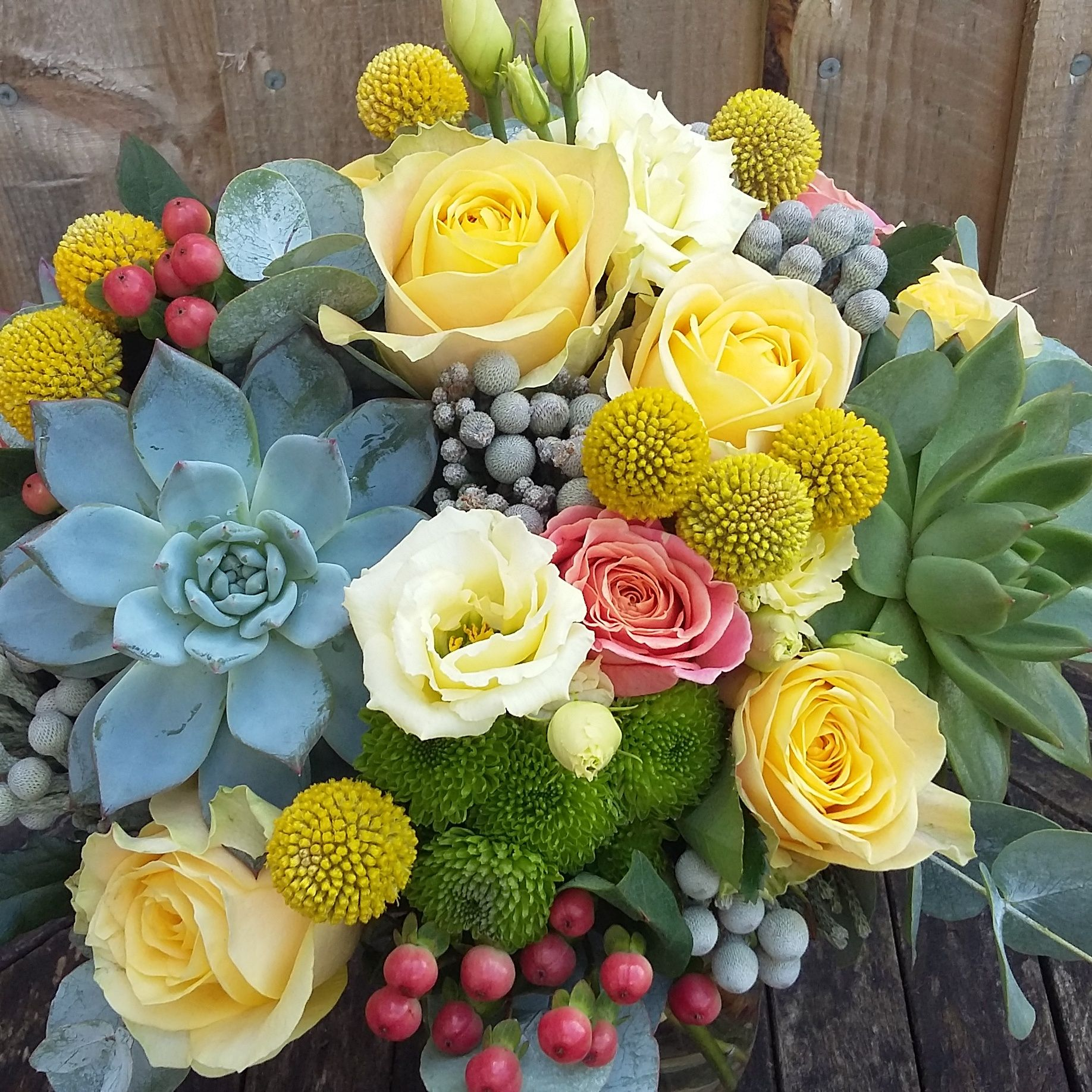 Bright unusual wedding bouquet
