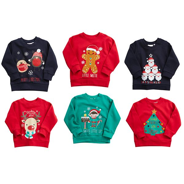 INFANTS Christmas Jumper - 6 different designs to choose from 2-6 Yrs