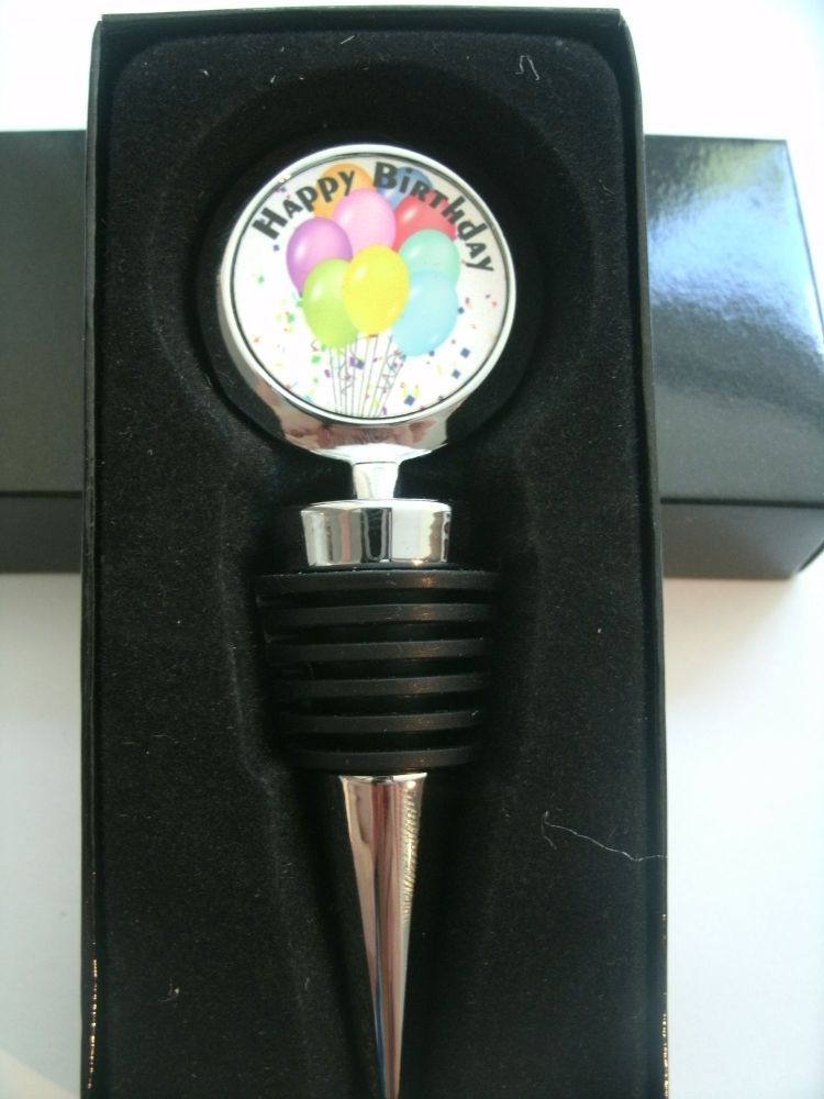 Happy Birthday bottle stopper - personalised