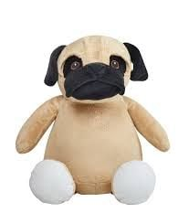 Personalised Cubbies Pug Soft Toy