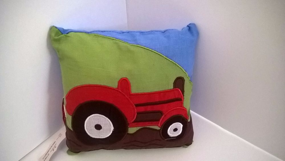 Farmyard Tractor - Mini Filled Cushion